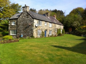 Picture of one of the stone houses that make up the Ffald-y-Brenin retreat centre