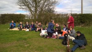 Bring and share picnic in the sunshine